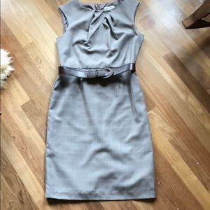 Dress barn grey/plaid knee length dress.